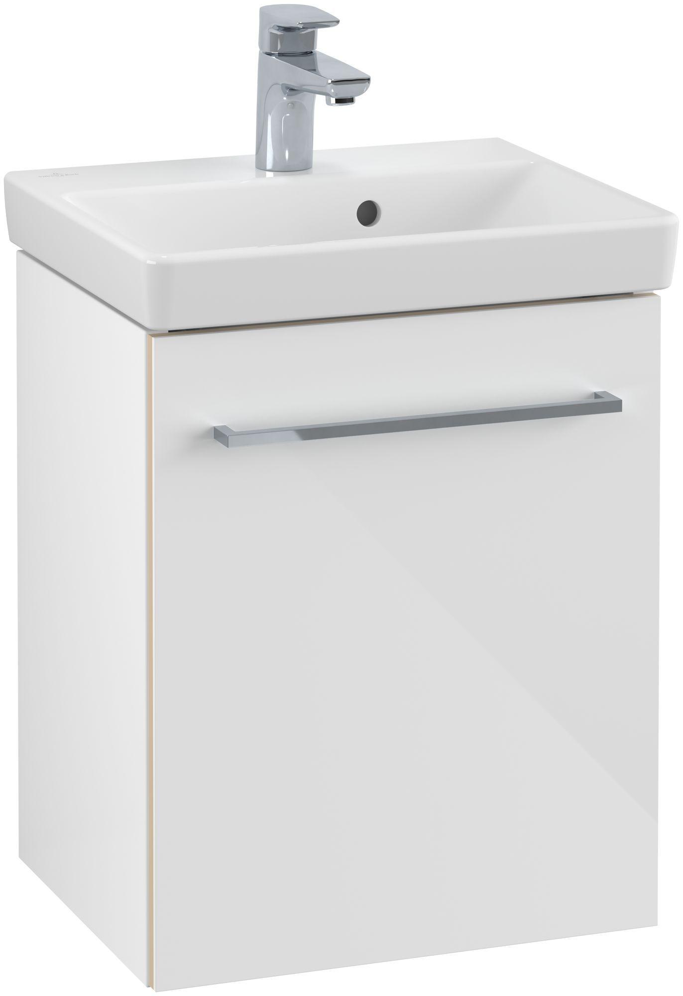 Villeroy & Boch Avento Waschtischunterschrank mit 1 Tür Türanschlag rechts B:41,7xH:52xT:34,6 cm crystal white A88701B4