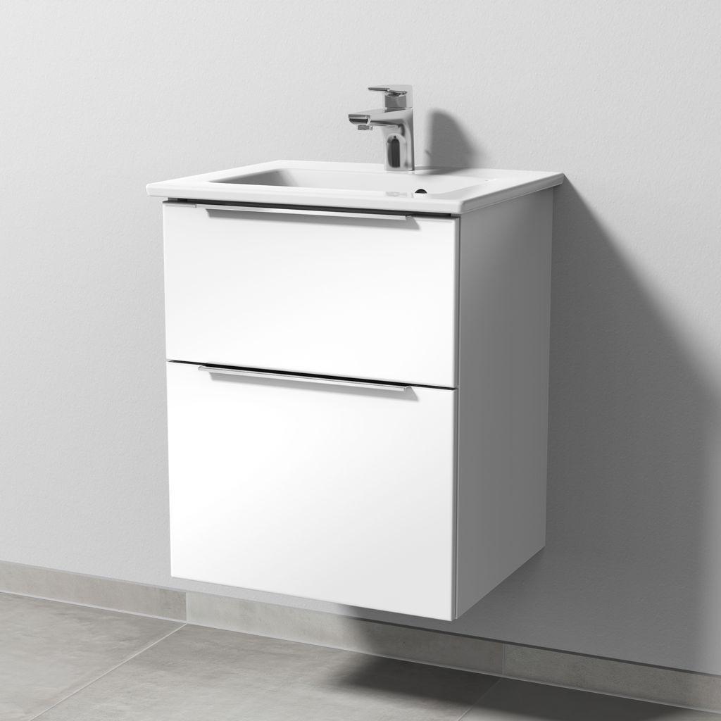 Sanipa 3way Set Keramik-Waschtisch (UM320) H:59,1xB:46,5xT:40,1cm Weiß-Soft UM32043