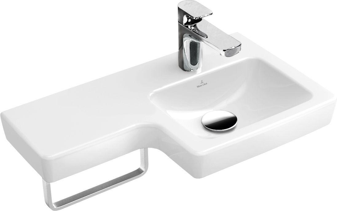 Villeroy & Boch Subway 2.0 Handwaschbecken Becken rechts B:63xT:35,5cm 1 Hahnloch ohne Überlauf weiß 41156R01