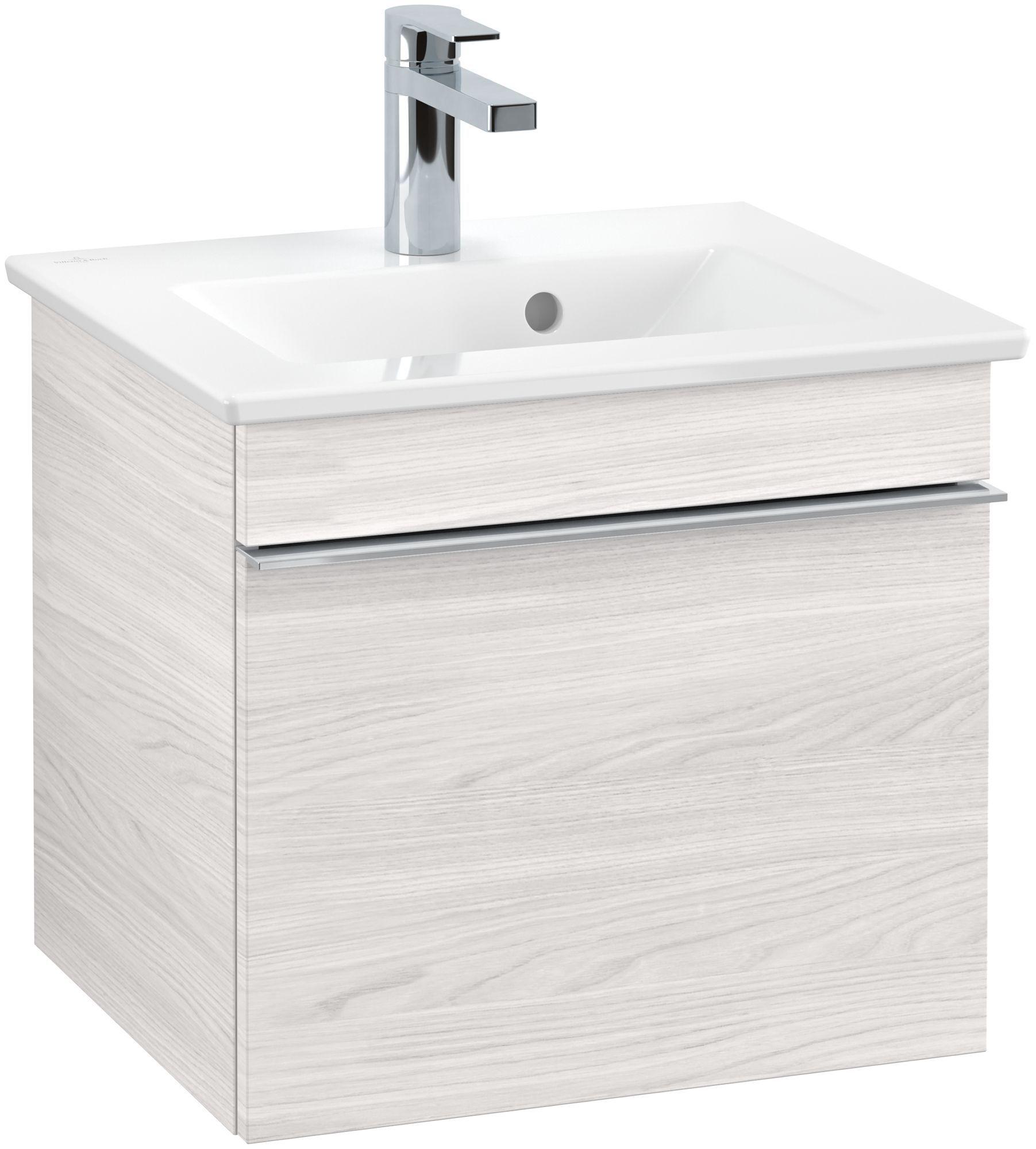 Villeroy & Boch Venticello Waschtischunterschrank 1 Auszug B:46,6xH:42xT:42,6cm white wood Griffe chrom Griffe chrom A93101E8