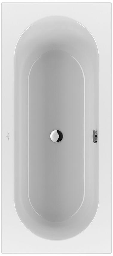 Villeroy & Boch Loop & Friends Solo Rechteck-Badewanne UBA170LFO2V-01 750x1700mm weiß mit ovaler Innenform