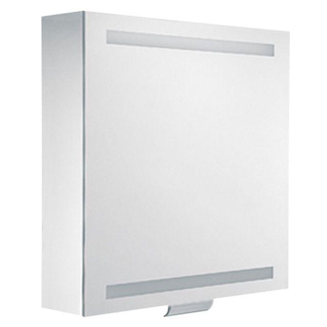 Keuco Edition 300 Spiegelschrank 1-türig silber eloxiert 650x650x160 mm 30201171201