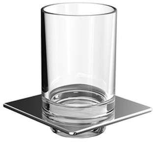 Emco art Glashalter chrom Glasteil säuremattiert 162000102