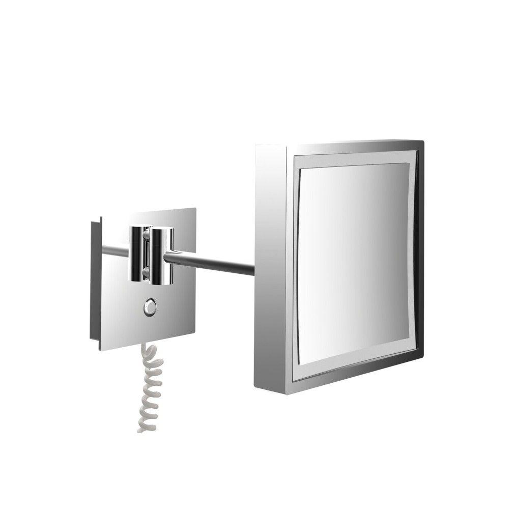 Emco Pure LED-Kosmetikspiegel H:20,3xB:20,3cm 3-fache Vergrößerung 1-armig chrom 109406010