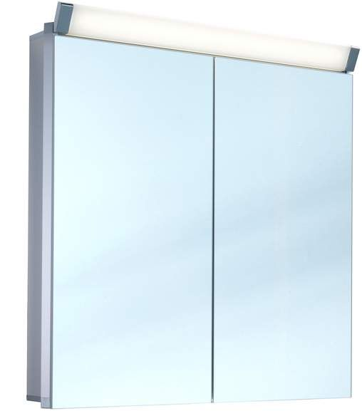 Schneider Paliline LED Spiegelschrank B:60xH:76xT:12cm 2 Türen Alu eloxiert 159.061.02.50
