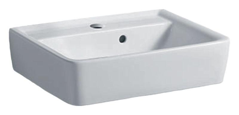 Geberit Keramag Renova Plan Handwaschbecken B:50xT:38cm 1 Hahnloch mit Überlauf weiß 272150000