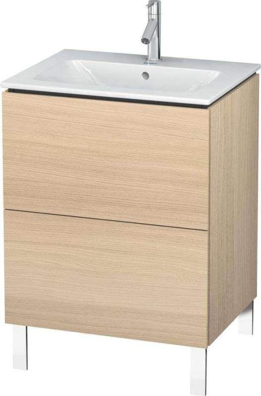 Duravit L-Cube Waschtischunterschrank stehend B:62xH:70,4xT:48,1 cm mit 2 Auszügen mediterrane eiche LC662507171