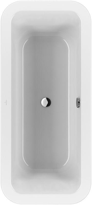 Villeroy & Boch Loop & Friends Duo Ovale Badewanne UBA180LFS7V-01 800x1800mm weiß mit eckiger Innenform