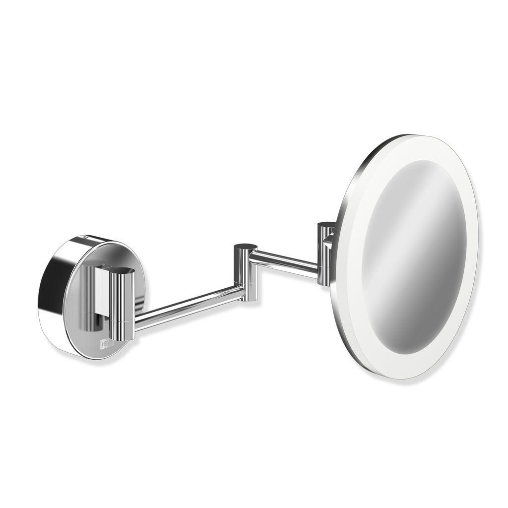 Hewi Kosmetikspiegel D:20cm beleuchtet 5-fach Vergößerung chrom 950.01.26040