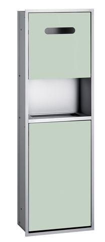 Emco asis 300 Sanitärmodul Unterputz H:100cm ohne Einbaurahmen Aluminium optiwhite 975227450