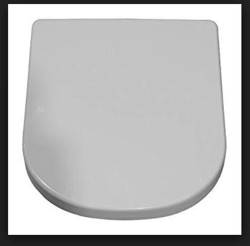 Geberit Keramag Renova Plan WC-Sitz ohne Absenkautomatik spülrandl weiß, L-Scharniere Edelstahl 572140000