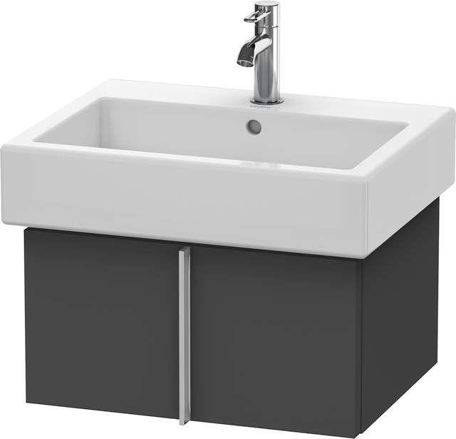 Duravit Vero Waschtischunterschrank wandhängend für 045460 B:55xH:29,8xT:43,1cm 1 Auszug graphit matt VE610404949