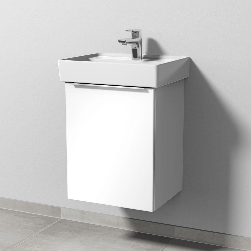 Sanipa 3way Waschtischunterbau links (UF830) H:51,7xB:40xL:34,7cm Weiß-Glanz UF83078