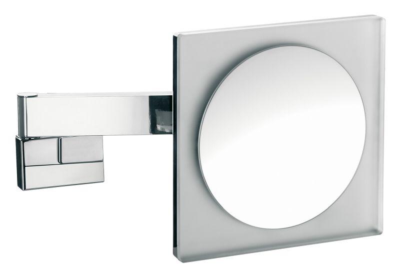 Emco LED Rasier- & Kosmetikspiegel 2-armig Vergrößerung 3-fach mit Farbwechsel Direktanschluss eckig chrom 109606024