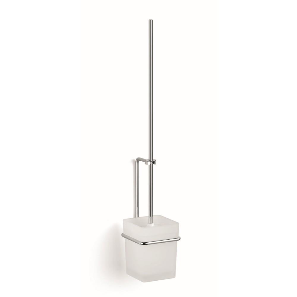 GIESE WC-Garnitur, Wandmodell, chrom Kristallglas satiniert, langer Stil 21077-02