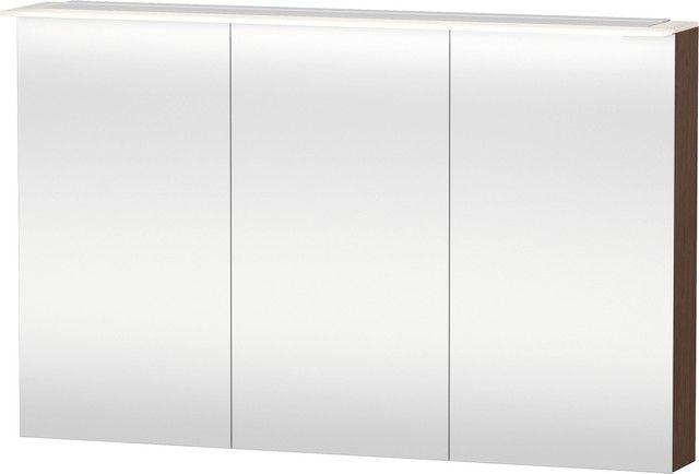 Duravit Happy D.2 Spiegelschrank 138x1200x760 3 Türen amerikanischer nussbaum H2759601313