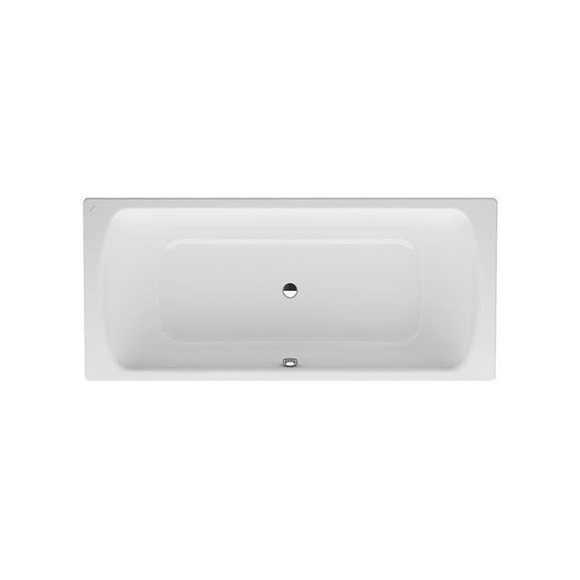 Laufen Pro Badewanne Auslauf mittig mit Schallschutz ohne Antislip L:180xB:80xH:45cm weiß H2279500000401