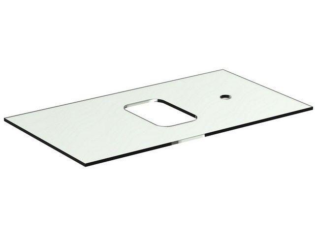 Ideal Standard TONIC II Glaskonsole für Schale asymmetrisch 806x444x10mm weiß R4335SA