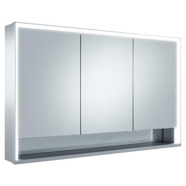 Keuco Royal Lumos Spiegelschrank Wandvorbau B:120xH:73,5 cm silber-eloxiert 14305171301