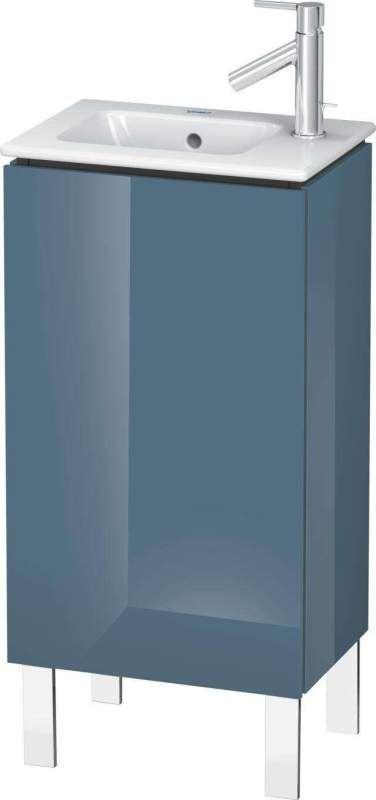 Duravit L-Cube Waschtischunterschrank stehend B:42xH:70,4xT:29,4 cm mit 1 Tür Anschlag linksstone blue hochglanz LC6273L4747