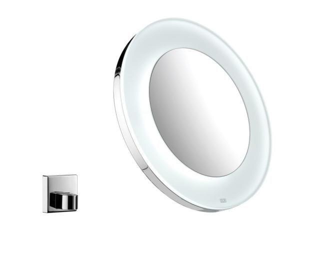 Emco Akku Rasier- und Kosmetikspiegel 109600123, chrom, 3-fach, rund