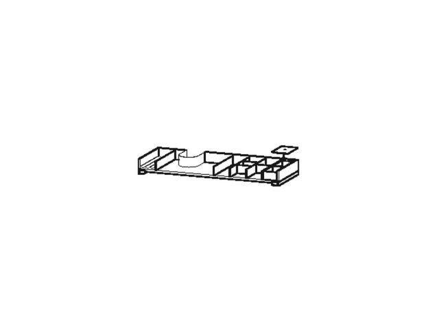 Duravit L-Cube Einrichtungssystem asymetrisch Universal Schubkasten 1020mm mit Siphonausschnitt nussb.massiv UV999607777