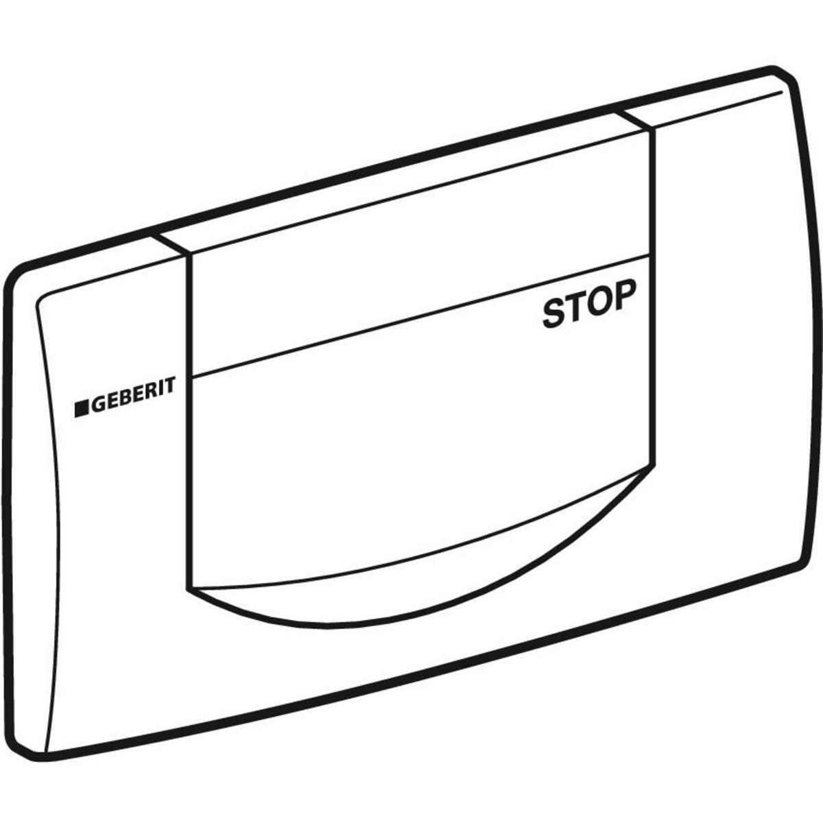 Geberit Betätigungsplatte 200 F für Spül-Stopp-Spülung glanzverchromt 115222211