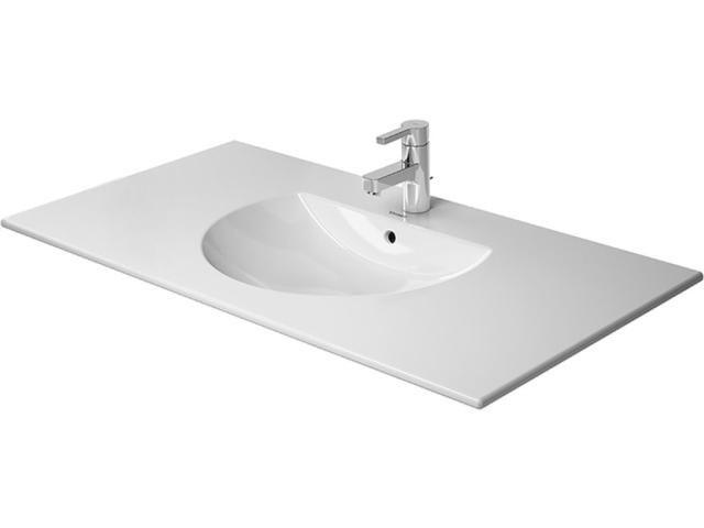Duravit Darling New Möbelwaschtisch B:103xT:54,5cm 1 Hahnloch mittig mit Überlauf weiß 0499100000