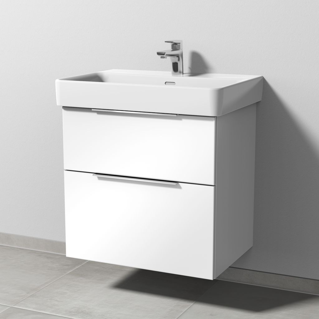 Sanipa 3way Waschtischunterbau mit Auszügen (UM767) H:59,3xB:60xT:43,7cm Kirsche-Natural-Touch UM76736