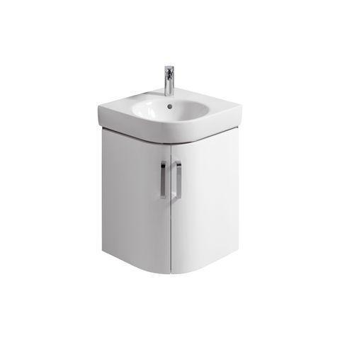 Geberit Keramag Renova Compact Eck-Handwaschbecken-Unterschrank B:48,2xH:60,5xT:48,2cm weiß 862150000