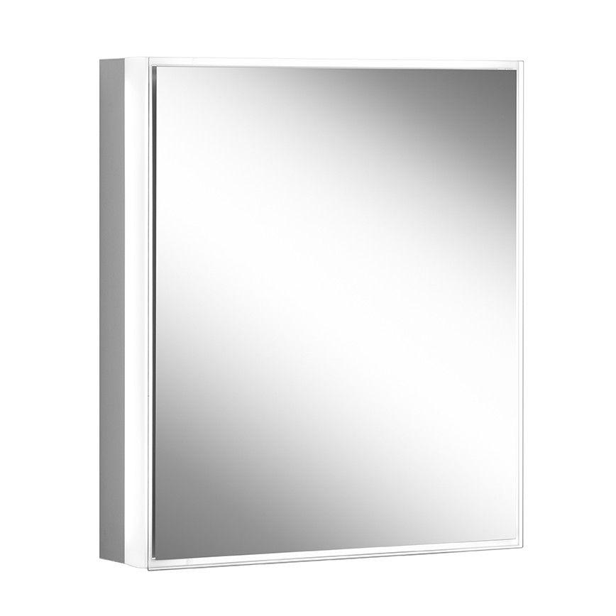 Schneider Spiegelschrank PREMIUM Line Superior 60/1/TW/L B:62,5xH:73,6xT:16,7cm mit Beleuchtung mit Kosmetikspiegel eloxiert 181.061.02.50