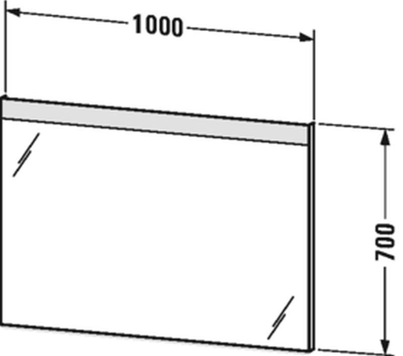 Duravit Licht&Spiegel mit Beleuchtung oben mit Sensorschalter B:100xH:70xT:3,5 cm LM784700000