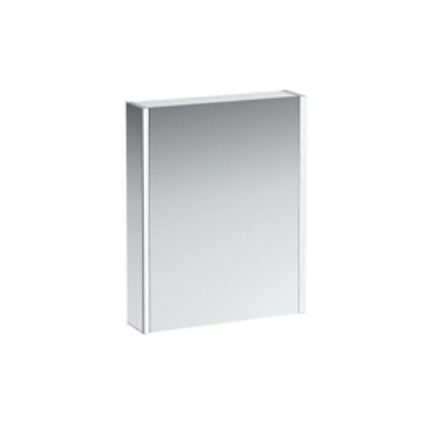 Laufen Frame 25 Spiegelschrank Anschlag links mit Ambiente Licht unten B:60xH:75xT:15cm Seitenteile weiß glänzend H4084519001451