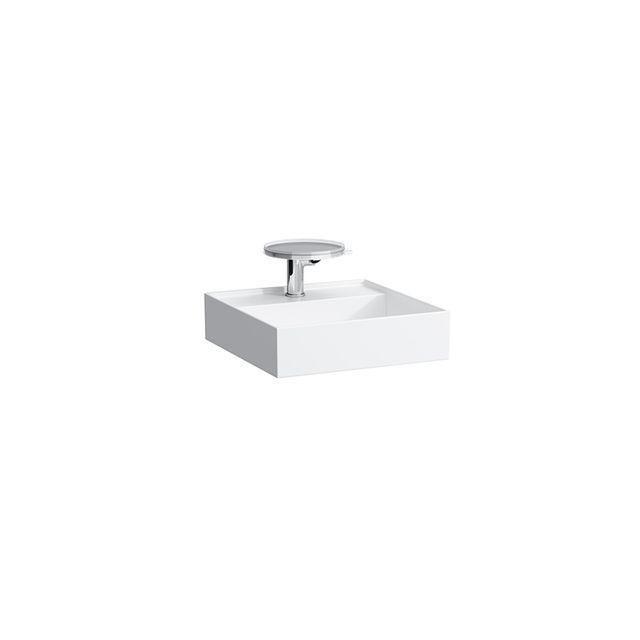 Laufen Kartell by Laufen Handwaschbecken B:46xT:46cm ohne Hahnloch ohne Überlauf grau matt H8153317591121