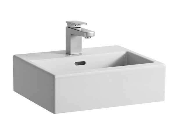 Laufen Living City Handwaschbecken B:45xT:38cm 1 Hahnloch mittig mit Überlauf weiß H8154320001041