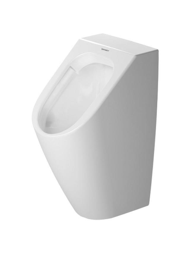 Duravit ME by Starck Urinal ohne Deckel mit Fliege Zulauf von hinten weiß mit Wondergliss 28093000071