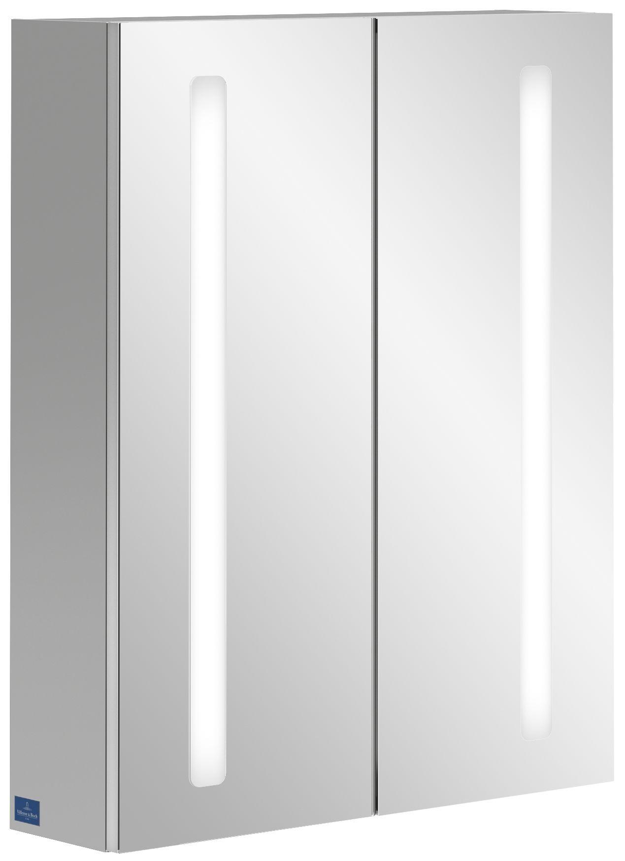 Villeroy & Boch My View 14+ Spiegelschrank mit integrierter LED Beleuchtung B:60xH:75xT:17,3cm A4336000