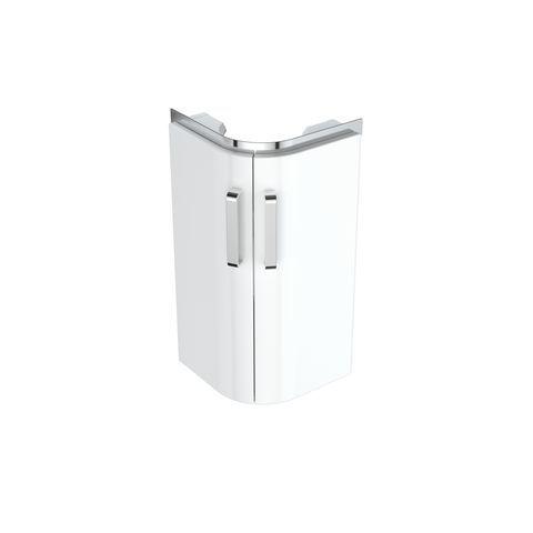 Geberit Keramag Renova Compact Eck-Handwaschbecken-Unterschrank B:30xH:60,5xT:30cm weiß 862132000