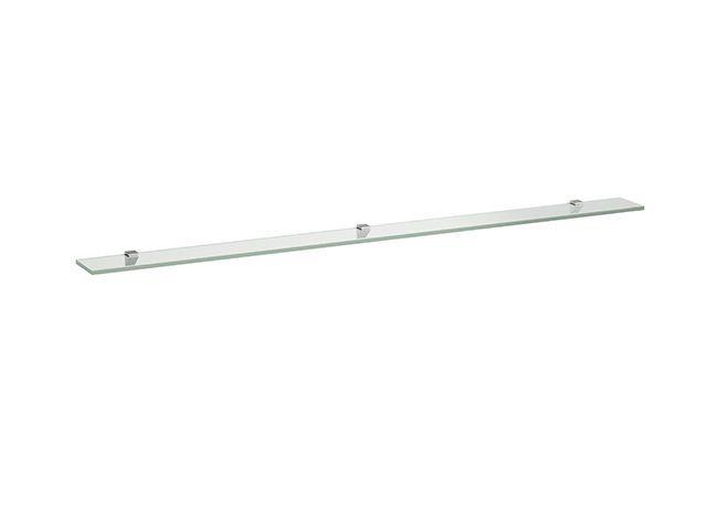 Laufen Glasablage Frame 25 120x1500x10 mit 3 Wandbefestigungen silbereloxiert H4475899000001