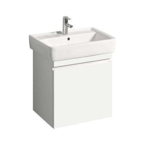 Geberit Keramag Renova Plan Waschtischunterschrank mit 1 Auszug und 1 Schublade B:576xT:438xH:586mm weiß hochglanz 869650000