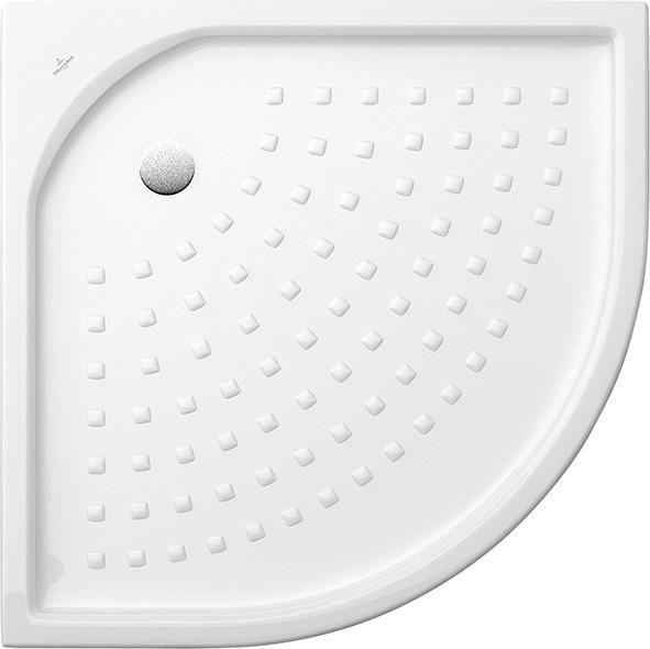 Villeroy & Boch Omnia classic Eckduschwanne 62099001 H: 35 B: 900 L: 900 weiß Ablauf 90 mm Durchmesser ohne Antirutsch