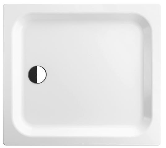 Bette Rechteck-Duschwanne extraflach L:100xB:75xT:6,5cm mit Antirutsch weiß 5550-000AR