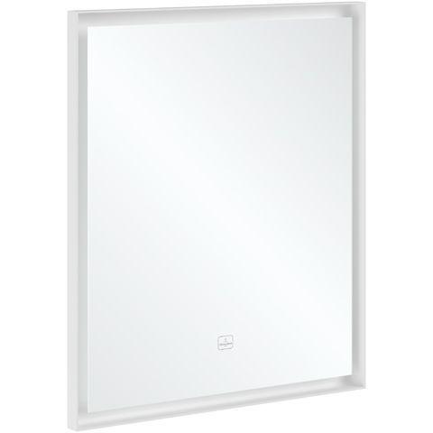 Villeroy & Boch Subway 3.0 Spiegel 65x75x4,75cm mit Beleuchtung BiColour Black Matt White Matt A46365BC