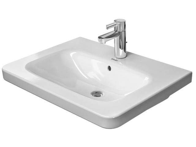Duravit DuraStyle Möbelwaschtisch B:65xT:48cm 3 Hahnlöcher mit Überlauf weiß 2320650030