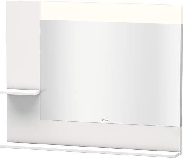 Duravit Vero Spiegel mit LED-Beleuchtung B:100xH:80xT:14,2cm mit Ablagen links und unten weiß hochglanz lack VE731208585