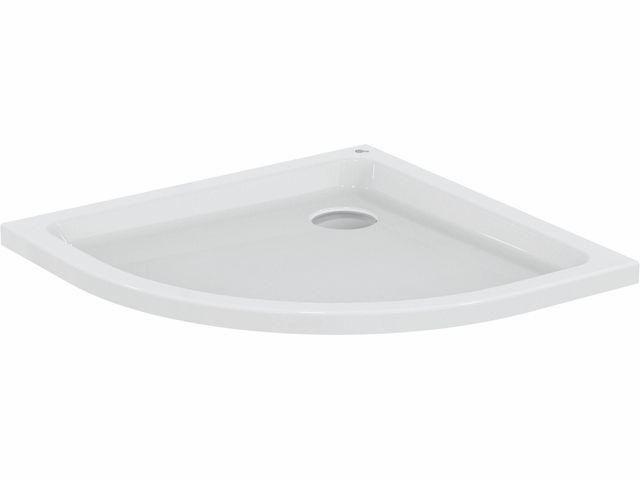 Ideal Standard HOTLINE NEU Viertelkreis-Brausewanne 1000x1000x80mm weiß K278101