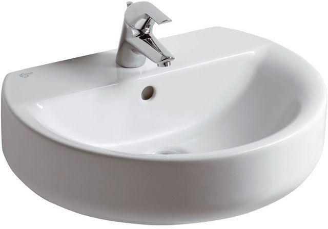 Ideal Standard Contour 21 Waschtisch B:55xT:45,5cm 1 Hahnloch mittig mit Überlauf weiß E714701