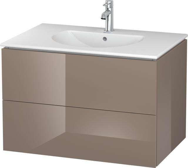 Duravit L-Cube Waschtischunterschrank wandhängend B:82xH:55xT:53,4 cm mit 2 Schubkästen cappuccino hochglanz LC626208686