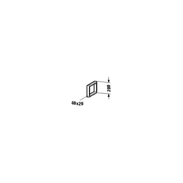Duravit 1 Konsolenträger-Handtuchhalter tiefenreduziert 200x40, 20x340mm UV990400000