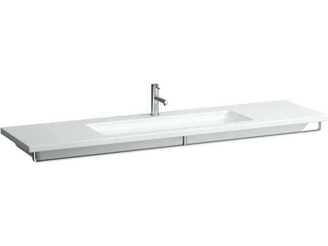 Laufen living square Unterbauwaschtisch B:180xT:48cm 3 Hahnlöcher mit Überlauf unterbaufähig weiß H8164380001081